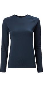 2020 Musto Womens Evolution Long Sleeve Sunblock Tee 2.0 81162 - True Navy