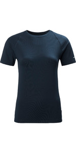2020 Musto T-shirt Da Sole Donna Evolution 2.0 81161 - Navy Scuro