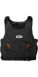 2020 Gill Junior Pro Racer Side Zip 50N Gilet D'aide à La Flottabilité 4916J - Noir / Orange