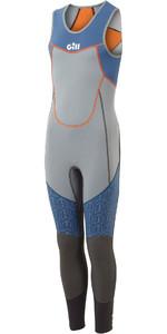 2021 Gill Junior Zenlite 2mm Flatlock Skiff Suit 5002j - Aço Cinza