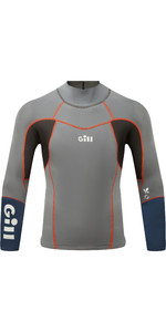 2021 Gill Mens Zenlite 1.5mm Flatlock Neoprene Top 5003 - Steel Grey