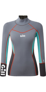 2021 Gill Womens Zenlite 1.5mm Flatlock Neoprene Top 5003W - Steel Grey
