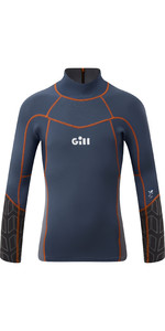2021 Gill Junior Zenlite 1.5mm Flatlock Neoprene Top 5003J - Ocean / Steel Grey