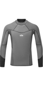 2021 Gill Mens Pro Long Sleeve Rash Vest 5020 - Grey Melange