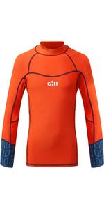 2020 Gill Junior Pro Long Sleeve Rash Vest 5020J - Orange