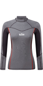 2020 Gill Womens Pro Long Sleeve Rash Vest 5020W - Grey Melange