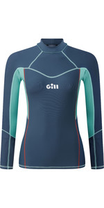 2020 Gill Womens Pro Long Sleeve Rash Vest 5020W - Ocean