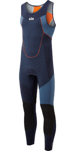2021 Gill Junior Race Firecell 3.5mm Neoprene Skiff Suit RS16 - Dark Denim / Orange