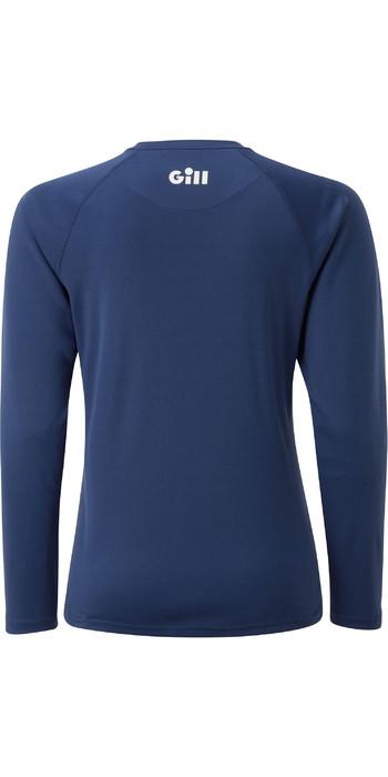 2021 Gill Frauenrennen Langarm T-Shirt Rs37w - Dunkelblau