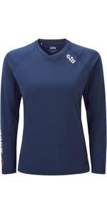 2020 Gill Damesrace T-shirt Met Lange Mouwen RS37W - Donkerblauw