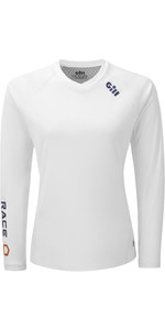 2020 Gill Womens Race Long Sleeve Tee RS37W - White