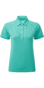 2020 Gill Womens UV Tec Polo Top UV008W - Turquoise