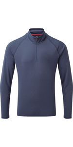 2020 Gill Herren Uv Tec Zip Neck Top Uv009 - Ocean