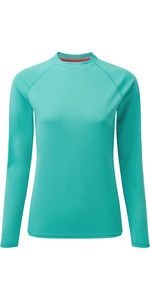 2020 Gill Womens Long Sleeve UV Tec Tee UV011W - Turquoise