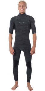 2020 Rip Curl Mens Dawn Patrol 2mm Chest Zip Short Sleeve Wetsuit WSM9YM - Camo