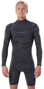 2020 Rip Curl Heren Dawn Patrol 2mm Shorty Wetsuit Met Korte Mouwen En Shorty Chest Zip WSP9HM - Camo
