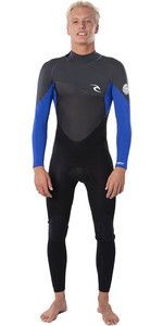 2021 Rip Curl Mens Omega 3/2mm Back Zip Wetsuit WSM9AO - Blue
