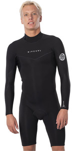 2020 Rip Curl Mens Dawn Patrol 2mm Back Zip Long Sleeve Shorty Wetsuit WSP9IM - Black