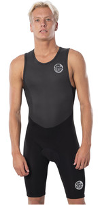 2021 Rip Curl Mens Dawn Patrol 1.5mm Back Zip Short John Wetsuit WSP9DM - Black