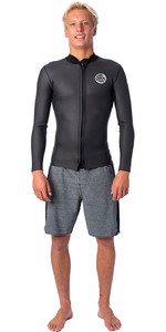 2020 Rip Curl Homens Dawn Patrol Do Dawn Patrol Front Zip 1.5mm Jaqueta De Neoprene Wve9mm - Preto
