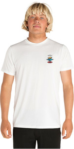 2020 Rip Curl Mens Search Logo Short Sleeve UV T-Shirt WLE9CM - White