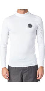 2020 Rip Curl Mens Corpo Long Sleeve UV Tee Rash Vest WLE8QM - White