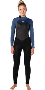 2020 Rip Curl Womens Omega 3/2mm Back Zip Wetsuit WSM9TW - Blue