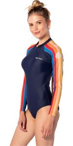 2020 Rip Curl Frauen G-bomb Back Zip Frechen Surfanzug Wlu9gw - Streifen
