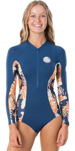 2020 Rip Curl Womens G-Bomb Front Zip Surf Suit WLY6EW - Navy