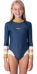 2020 Rip Curl Junior Girls Langarm Back Zip Surfanzug Wly9cj - Dunkelblau