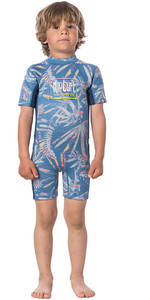 2020 Rip Curl Toddler Boys Dawn Patrol 1.5mm Back Zip Shorty Wetsuit WSP8BS - Blue