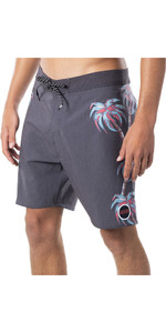 2020 Rip Curl Hombres Mirage Palm Strip Boardshorts Cboba9 - Negro