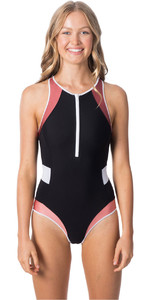 2020 Rip Curl Womens Essentials Block 1 Piece Surf Suit GSIQH9 - Black