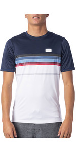 2020 Rip Curl Mens Rapture Short Sleeve UV T-Shirt WLY9BM - Navy