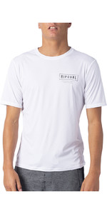 2020 Rip Curl Mens Driven Short Sleeve UV T-Shirt WLY9SM - White