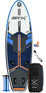 2020 STX Windsurf 280 Inflatable Stand Up Paddle Board Package - Board, Bag, Pump & Leash 01000 - Blue / Orange