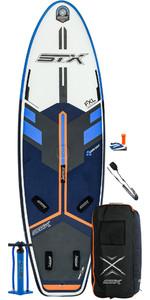 2020 Stx Windsurf 280 Aufblasbares Stand Up Paddle Board Paket - Board, Tasche, Pumpe & Leine 01000 - Blau / Orange