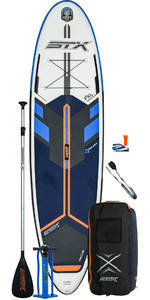 2020 STX Freeride Windsurf 10'6 Inflatable Stand Up Paddle Board Package - Board, Bag, Paddle, Pump & Leash - Blue / Orange