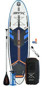 2021 Stx Freeride 10'6 Opblaasbaar Stand Up Paddle Board Pakket - Board, Tas, Paddle, Pump & Leash - Blauw / Oranje