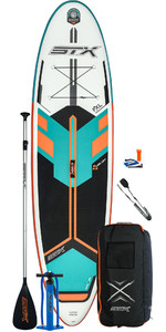 2020 Stx Freeride 10'6 Stx Stand Up Paddle Board Gonflables - Planche, Sac, Pagaie, Pompe Et Laisse - Menthe / Orange