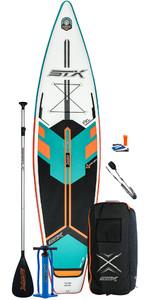 2020 Stx Touring Windsurf 11'6 Aufblasbares Stand Up Paddle Board Paket - Board, Tasche, Paddel, Pump & Leine - Mint / O