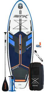 2020 Stx Junior 8'0 Oppustelig Stand Up Paddle Board Pakke - Bord, Taske, Padle, Pumpe & Snor - Blå / Orange
