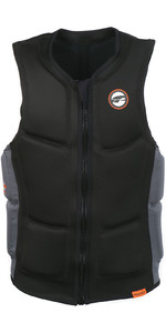 2020 Prolimit Full Padded Front Zip Slider Impact Vest 63012 - Black / Orange