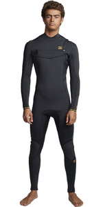 2020 Billabong Dos Homens Furnace Absolute 4/3mm Chest Zip Wetsuit S44m52 - Preto Antigo