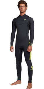 2020 Billabong Mens Furnace Absolute 4/3mm Chest Zip Wetsuit S44M52 - Lime