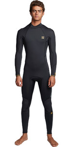 2020 Billabong Mens Furnace Absolute 3/2mm Flatlock Back Zip Wetsuit S43M57 - Antique Black