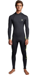 2020 Billabong Mens Furnace Absolute 4/3mm Back Zip Wetsuit S44M53 - Lime