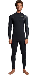 2020 Billabong Mannen Furnace Comping 3/2mm Chest Zip Wetsuit S43m50 - Black Camo