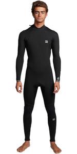 2020 Billabong Mens Furnace Absolute 3/2mm Flatlock Back Zip Wetsuit S43M57 - Black