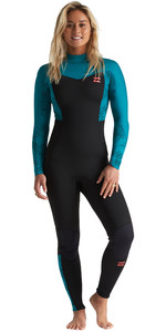 2020 Billabong Womens Furnace Synergy 3/2mm Back Zip Wetsuit S43G53 - Mermaid